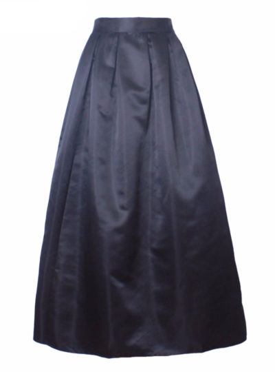 Women's Retro Satin Pleated Skirt