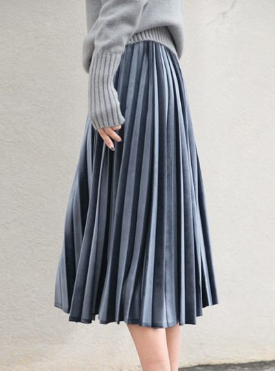 Women's Midi Pleated Skirt