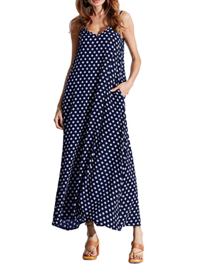 Women's Cami Dot Printed Maxi Dresses