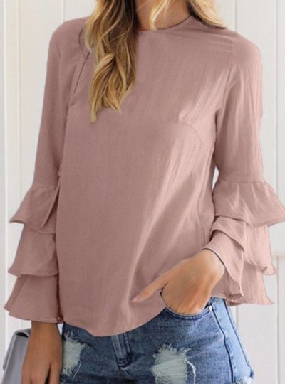 Women's Long Frill Sleeved Blouse