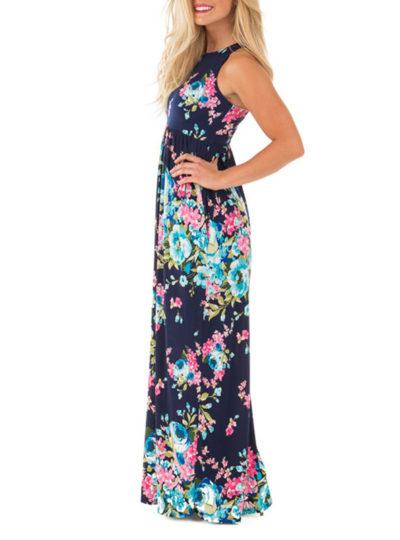 Romantic Bohemian Summer Long Floral Women's Dress