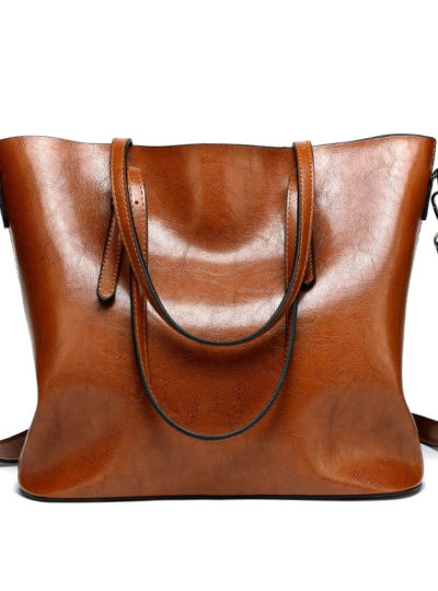 Women's Casual Tote Leather Handbag