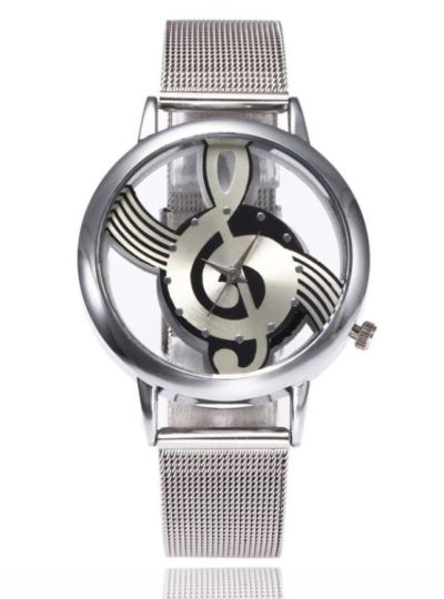 Musical Note Pattern Women's Watch