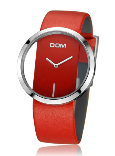 Casual Women's Wristwatches with Leather Strap