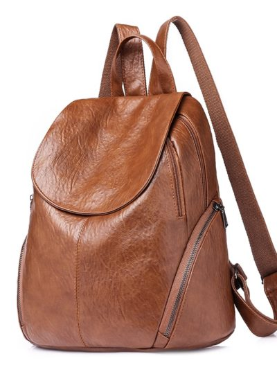 Women's Casual PU Leather Backpack