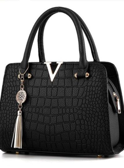 Women's Luxury Crocodile Leather Handbag