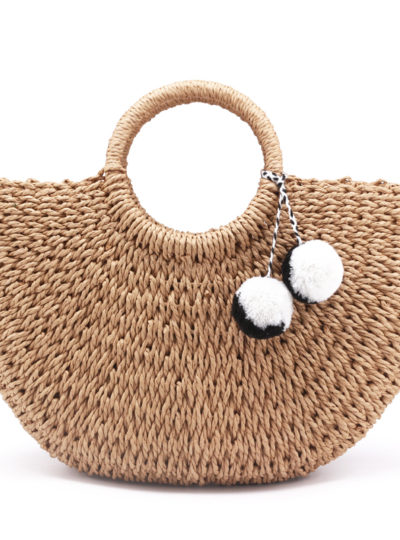 Natural Straw Women's Beach Handbag