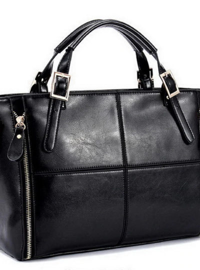 Women's Luxury Leather Top-Handle Bag
