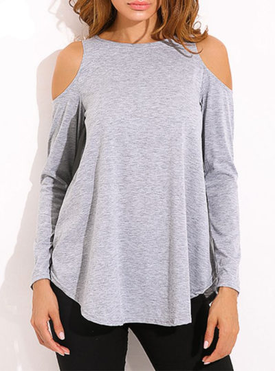 Women's Off Shoulder Long Sleeved Blouse